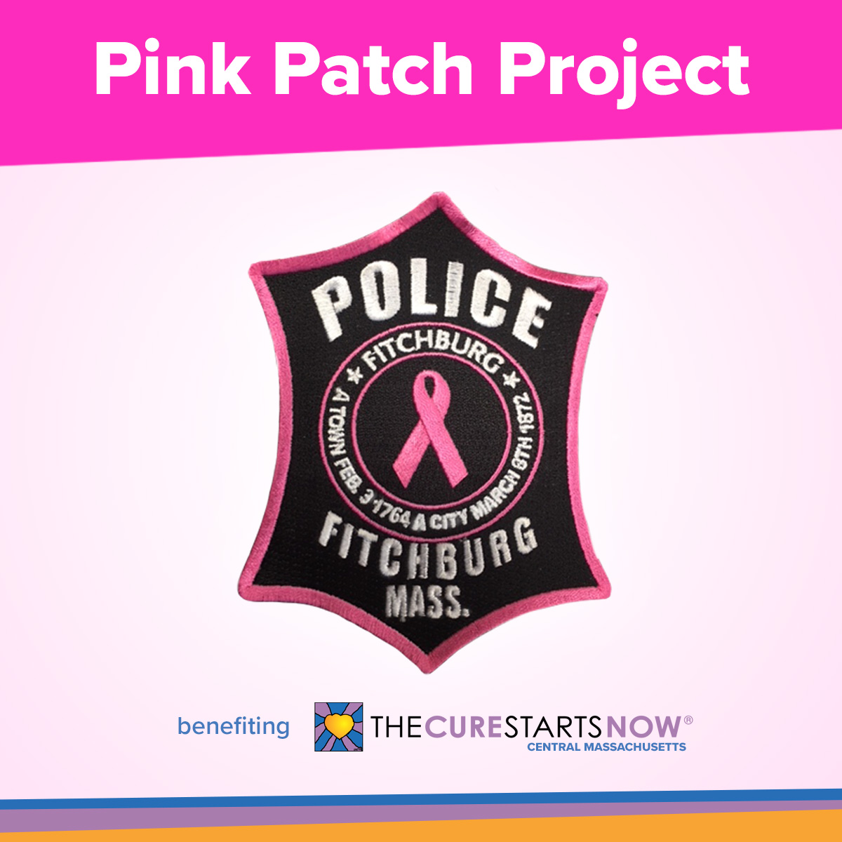 Pink Patch Project benefiting The Cure Starts Now Central Massachusetts Chapter
